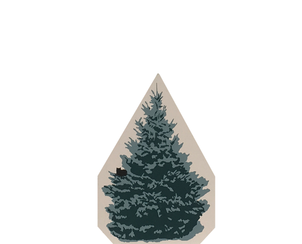 """Vintage Blue Spruce from Accessories handcrafted from 3/4"""" thick wood by The Cat's Meow Village in the USA"""