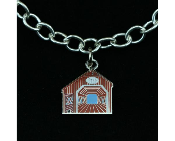 Wear a Village on your wrist! Covered Bridge Charm by The Cat's Meow Village