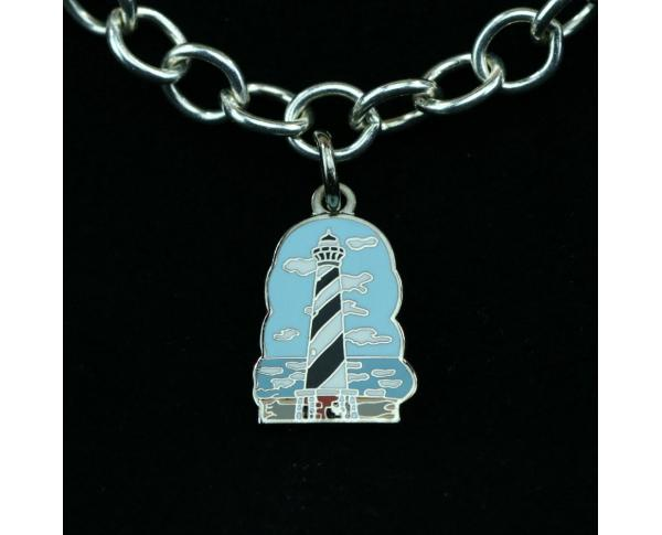 Wear a Village on your wrist! Hatteras Lighthouse Charm by The Cat's Meow Village