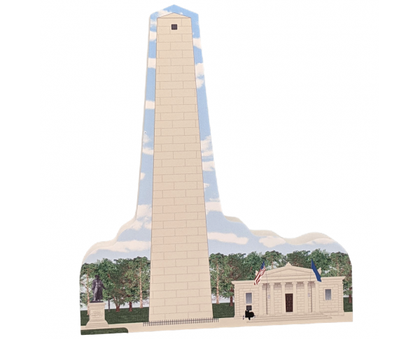 "Bunker Hill Monument National Park, Charlestown, Massachusetts.  Handcrafted in the USA 3/4"" thick wood by Cat's Meow Village."