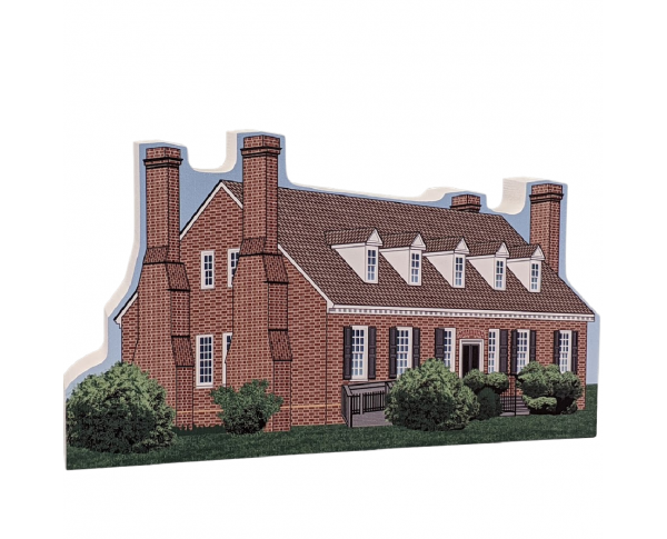 "Beautifully detailed replica of George Washington Birthplace National Monument, Virginia.  Handcrafted in the USA 3/4"" thick wood by Cat's Meow Village."