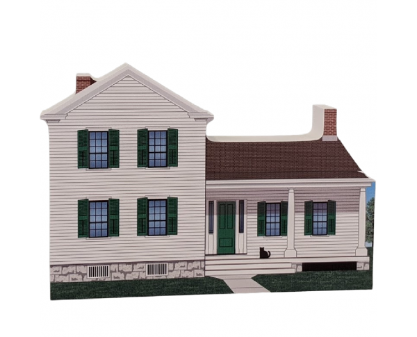 "Elizabeth Cady Stanton House, Women's Rights NHP, Seneca, New York. Handcrafted in the USA 3/4"" thick wood by Cat's Meow Village."