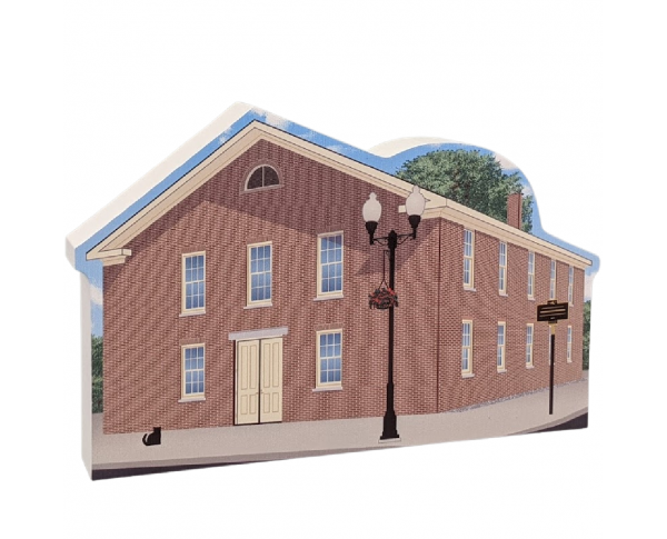 "Wesleyan Chapel, Women's Rights NHP, Seneca Falls, New York. Handcrafted in the USA 3/4"" thick wood by Cat's Meow Village."