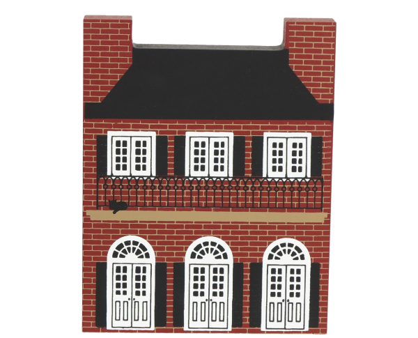 "Vintage Creole House from Series V handcrafted from 3/4"" thick wood by The Cat's Meow Village in the USA"