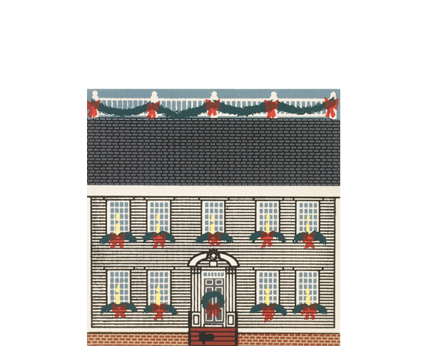 "Vintage Hunter House from Christmas in New England handcrafted from 3/4"" thick wood by The Cat's Meow Village in the USA"