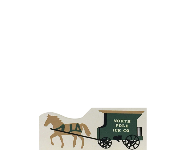 "Vintage Ice Wagon from Accessories handcrafted from 1/2"" thick wood by The Cat's Meow Village in the USA"