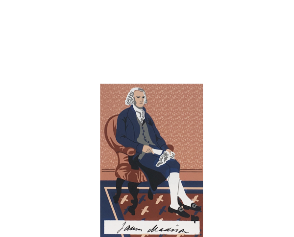 "Vintage James Madison from Presidential Portraits Series handcrafted from 3/4"" thick wood by The Cat's Meow Village in the USA"