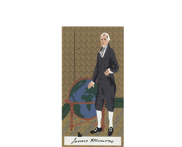 "Vintage James Monroe from Presidential Portraits Series handcrafted from 3/4"" thick wood by The Cat's Meow Village in the USA"