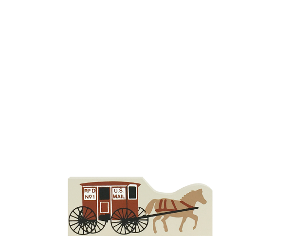"Vintage Mail Wagon from Accessories handcrafted from 1/2"" thick wood by The Cat's Meow Village in the USA"