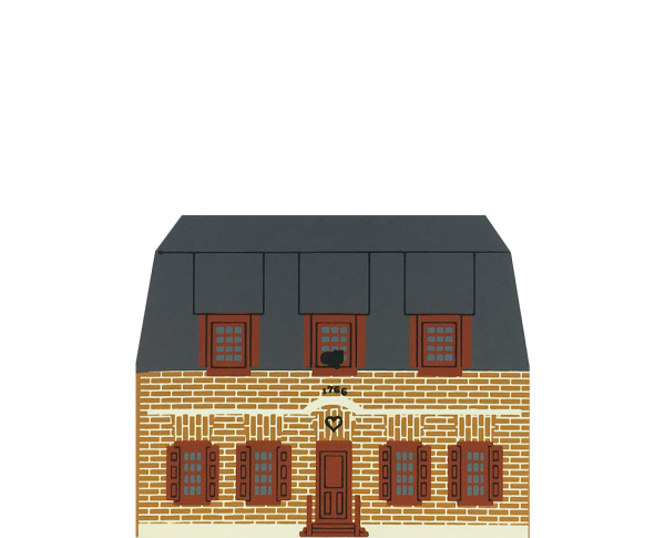 "Vintage Pruyn House from Series VI handcrafted from 3/4"" thick wood by The Cat's Meow Village in the USA"