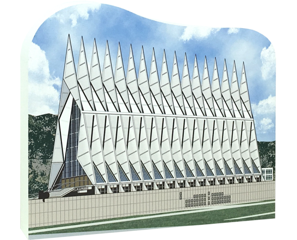 "If you have any connection to the USAF Academy in Colorado Springs, then you'll want to get your paws on this Cadet Chapel. We handcraft it in the USA from 3/4"" thick wood. From our house to your, The Cat's Meow Village."