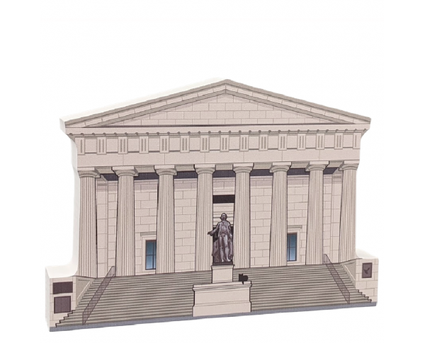 "Federal Hall National Memorial,Manhattan, New York. Handcrafted in the USA 3/4"" thick wood by Cat's Meow Village."