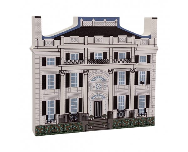 "Linden Place Historic Museum, Rhode Island. Handcrafted in the USA 3/4"" thick wood by Cat's Meow Village."