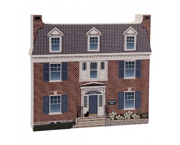 "Eisenhower House, Nat'l HS, Gettysburg, Pennsylvania. Handcrafted in the USA 3/4"" thick wood by Cat's Meow Village."