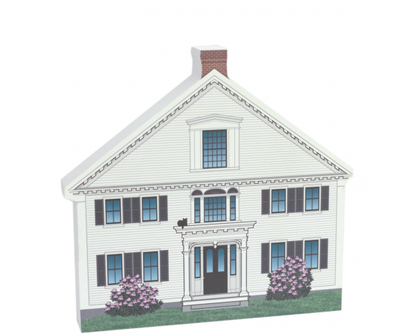 "Colorful and Detailed Front Replica of Captain Enoch Remick House, Tamworth Village, NH.  Handcrafted in 3/4"" thick wood by The Cat's Meow Village in the USA."
