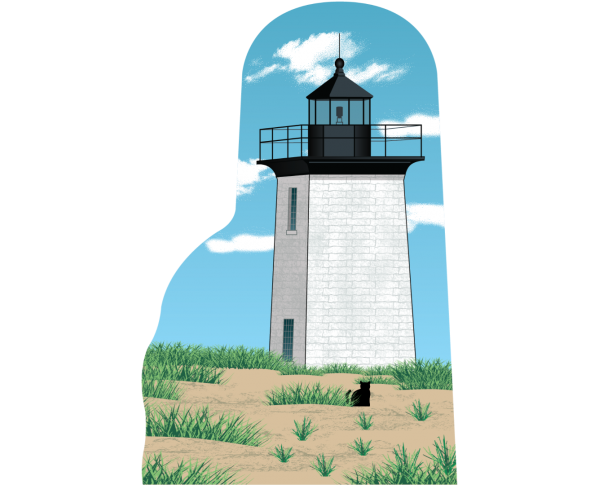 "Wood End Lighthouse, Cape Cod, Massachusetts. Handcrafted in the USA 3/4"" thick wood by Cat's Meow Village."