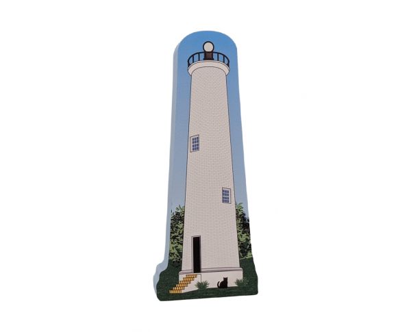 "Egmont Key Lighthouse, Florida State Park. Handcrafted in the USA 3/4"" thick wood by Cat's Meow Village."
