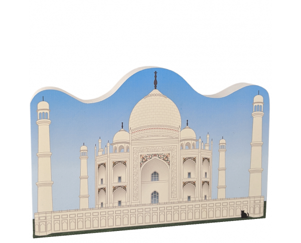 Wooden replica of the Taj Mahal, Agra, India. Handcrafted by The Cat's Meow Village in the USA.