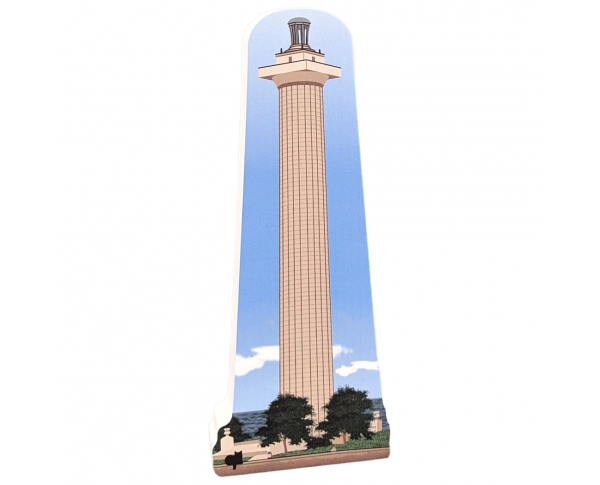 "Perry's Monument, National Park, Put-In-Bay, Ohio. Handcrafted in the USA 3/4"" thick wood by Cat's Meow Village."