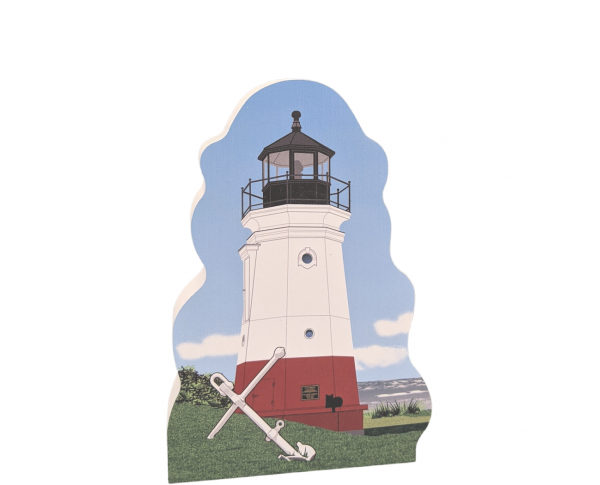 "Beautifully detailed replica of the Vermilion Lighthouse, Vermilion, Ohio.  Handcrafted in the USA 3/4"" thick wood by Cat's Meow Village."