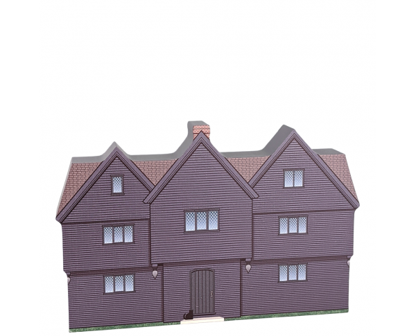 """The Witch House, Salem, Massachusetts. Handcrafted in the USA 3/4"""" thick wood by Cat's Meow Village."""