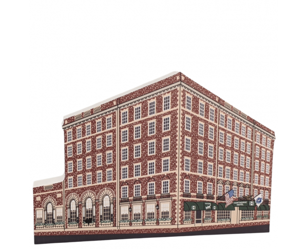 """Hawthorne Hotel, Salem Massachusetts. Handcrafted in the USA 3/4"""" thick wood by Cat's Meow Village."""