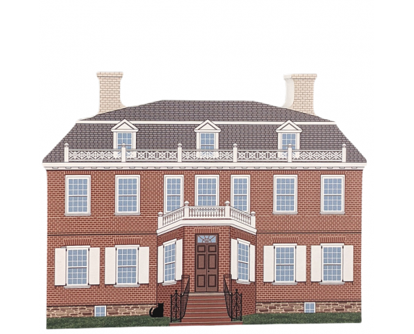 Add this beautifully detailed replica of Schuyler Mansion, Albany, New York, to your Cat's Meow Village!  Handcrafted in the USA.