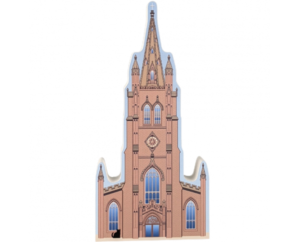 Trinity Church, Wall Street, Manhattan, New York.  Handcrafted in the USA by Cat's Meow Village.