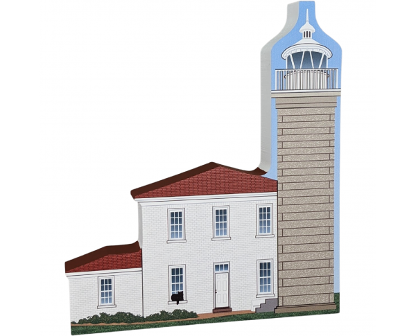 Watch Hill Lighthouse, Rhode Island.  Handcrafted in the USA by Cat's Meow Village.