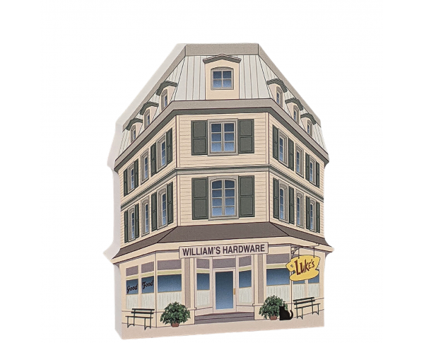 """Luke's Diner, Stars Hollow, Gilmore Girls. Handcrafted in the USA 3/4"""" thick wood by Cat's Meow Village."""