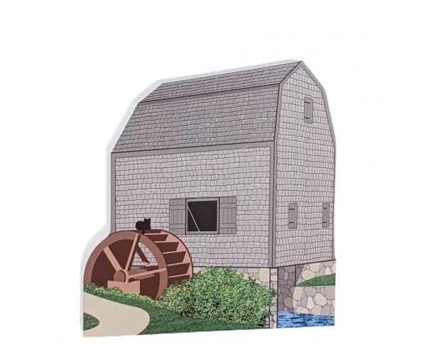 Dexter Grist Mill, Sandwich, Massachusetts, Cape Cod. Handcrafted by Cat's Meow Village in the USA.
