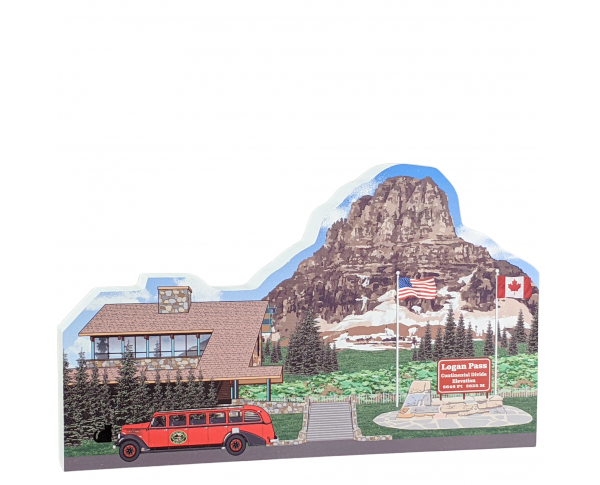 "Logan Pass, Glacier National Park, Montana. Handcrafted in the USA 3/4"" thick wood by Cat's Meow Village."