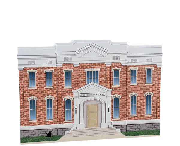 "Stars Hollow High School, Stars Hollow, Gilmore Girls.  Handcrafted in the USA 3/4"" thick wood by Cat's Meow Village."