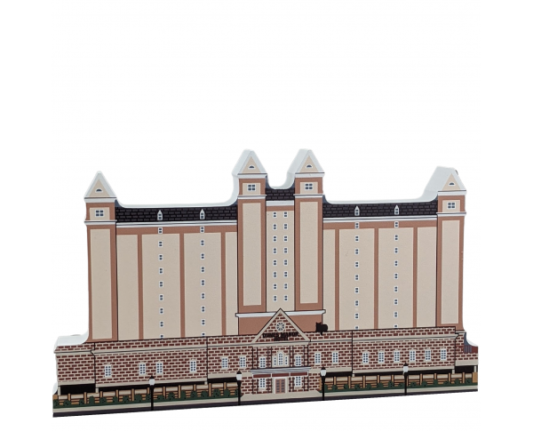 """Dunes Manor Hotel, Ocean City, Maryland. Handcrafted in the USA 3/4"""" thick wood by Cat's Meow Village."""