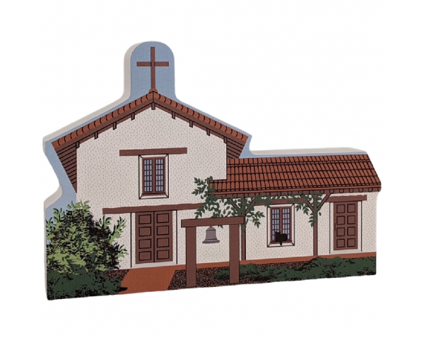 "Mission San Francisco Solano, Sonoma, California. Handcrafted in the USA 3/4"" thick wood by Cat's Meow Village."
