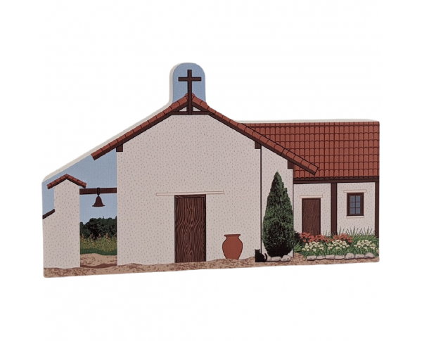 "Mission Nuestra Senora De La Soledad, Soledad, CA. Handcrafted in the USA 3/4"" thick wood by Cat's Meow Village."