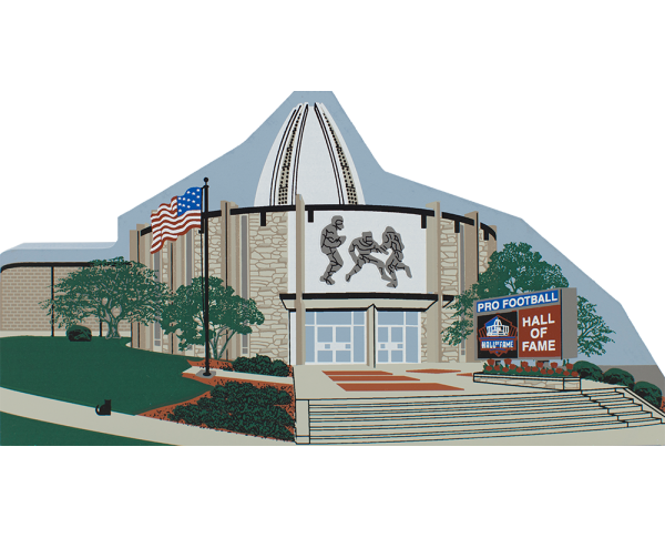 Cat's Meow replica of Pro Football Hall Of Fame in Canton, Ohio