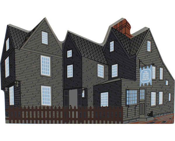 House Of Seven Gables in Salem, MA handcrafted in wood by The Cat's Meow Village