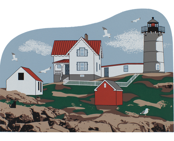 Nubble Lighthouse, Cape Neddick Lighthouse, lighthouse, York Maine, York Beach, Maine, nautical, New England