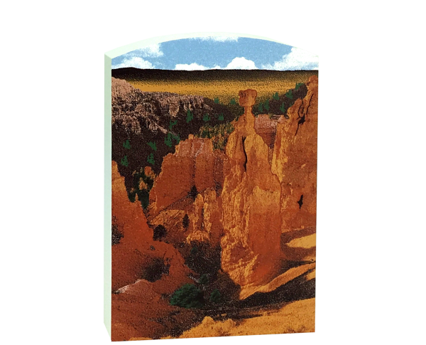 "Add this 3/4"" thick wooden replica of Thor's Hammer in Bryce Canyon, UT to your home decor. Handcrafted in the USA by The Cat's Meow Village."