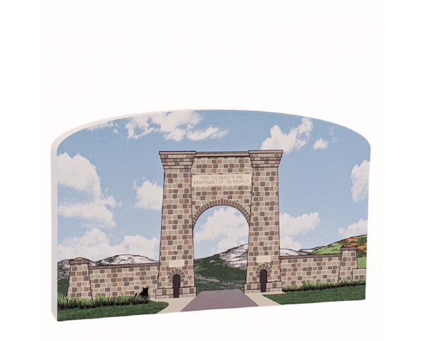 "This lovely design brings the Roosevelt Arch into your home. Made in the USA out of 3/4"" thick wood."