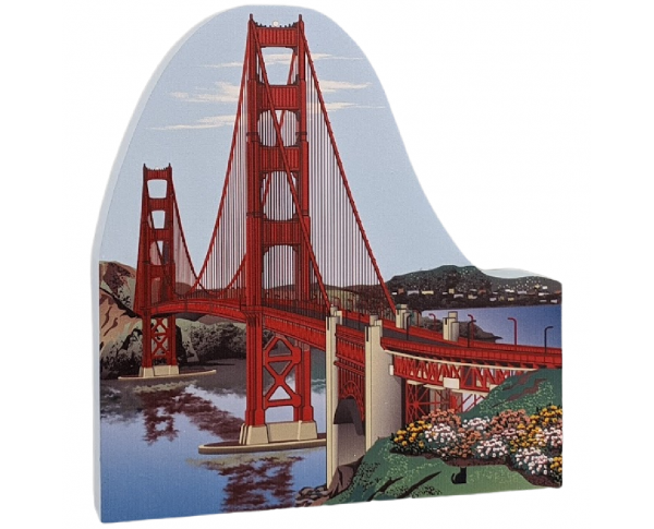 Golden Gate Bridge, Golden Gate National Recreation Area, handcrafted in wood as a keepsake of  your trip.