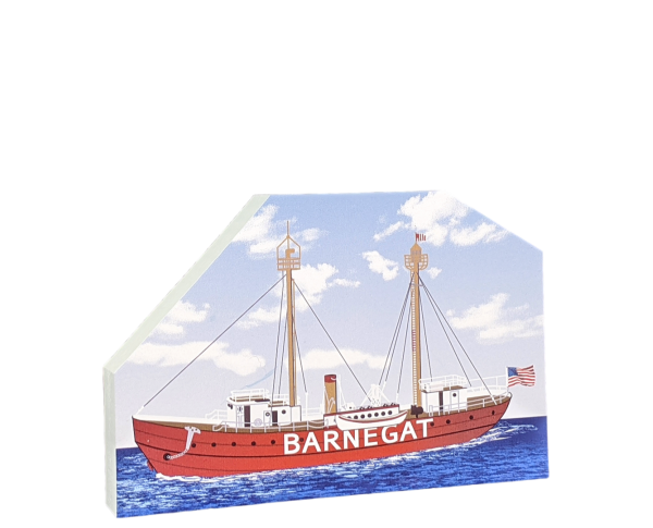 "Lightship Barnegat, LV79, Camden, New Jersey. Handcrafted in the USA 3/4"" thick wood by Cat's Meow Village."