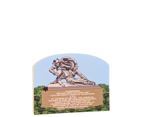 "Kirkland Monument,  Fredericksburg, VA.   Handcrafted in the USA 3/4"" thick wood by Cat's Meow Village."