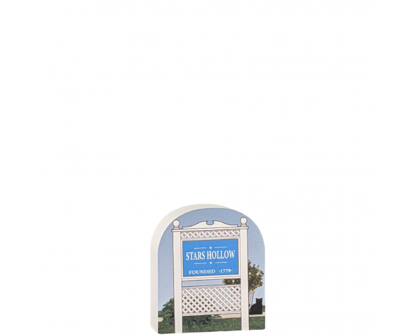 """Town Sign, Stars Hollow, Gilmore Girls. Handcrafted in the USA 3/4"""" thick wood by Cat's Meow Village."""