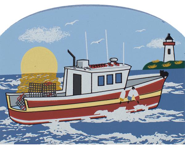 Lobster Boat ocean, New England, lobster, fishing, nautical, boat