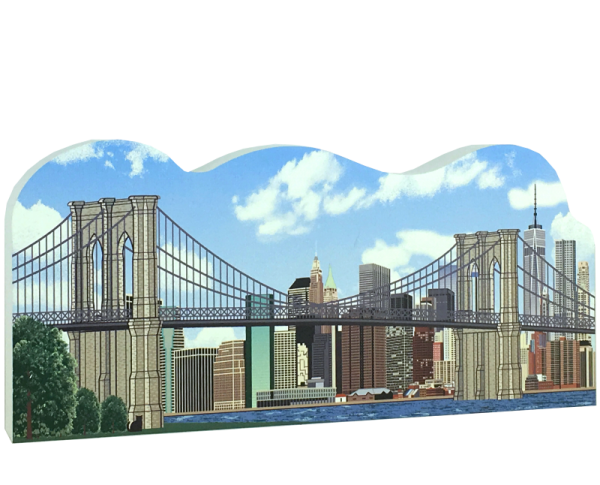 Brooklyn Bridge, Brooklyn, NY. Handcrafted in the USA by Cat's Meow Village.