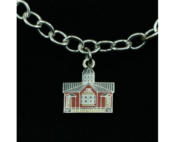 Wear a Village on your wrist! Schoolhouse Charm by The Cat's Meow Village