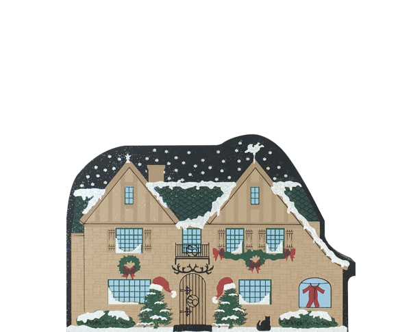 "Santa's House from Vintage North Pole handcrafted from 3/4"" thick wood by The Cat's Meow Village in the USA"