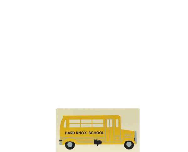 "Vintage School Bus from Accessories handcrafted from 1/2"" thick wood by The Cat's Meow Village in the USA"